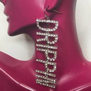 Rhinestone Drippin Statement Earrings